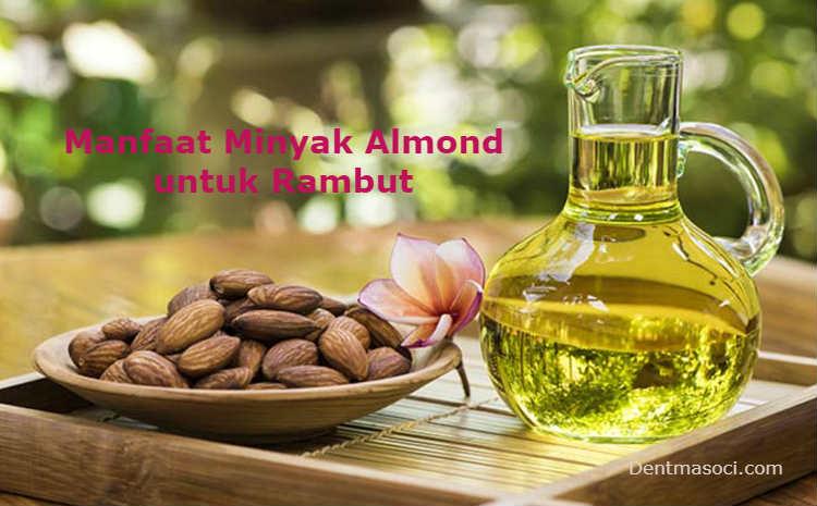 cara meluruskan rambut dengan minyak almond