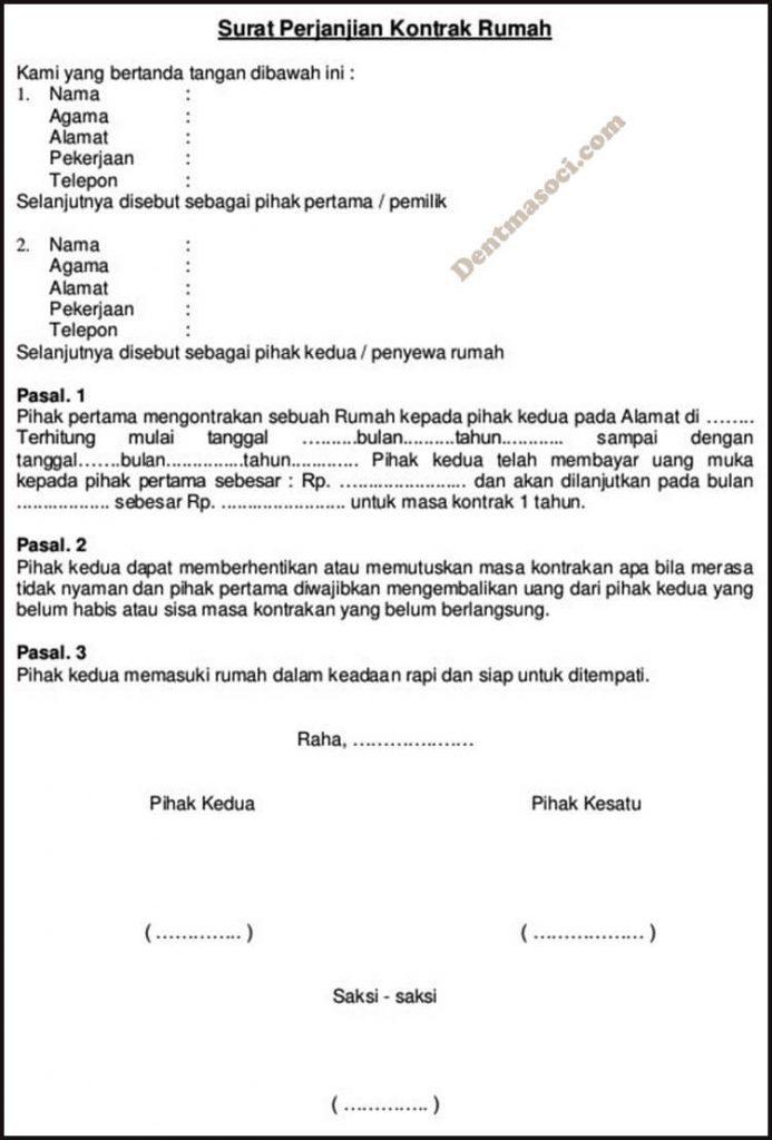 Contoh Surat Pernyataan Hutang Sederhana Detil Gambar Online